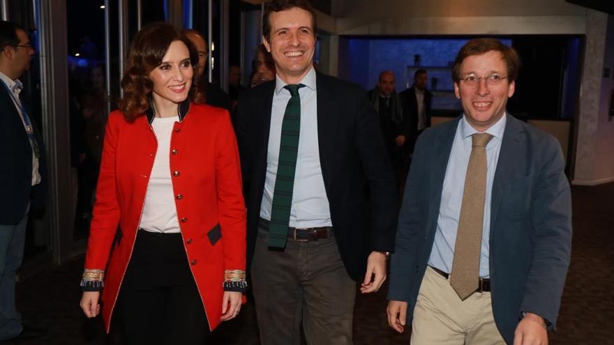 Los candidatos de Madrid junto al presidente Pablo Casado. / PP