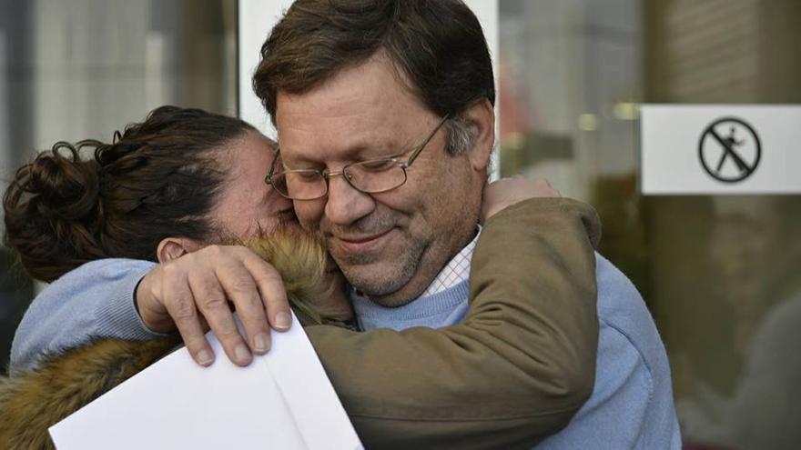 Joaquín `El Cura´ tras la retirada de la demanda por el BBVA. Carlos Trenor