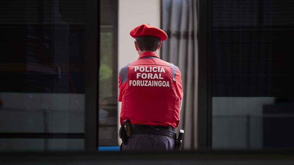 Un agente de Policía Foral