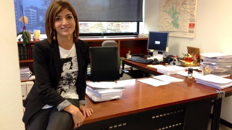 La juez decana de Pamplona, en su despacho.