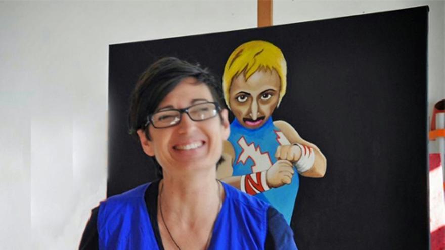 La artista Noelia Muriana