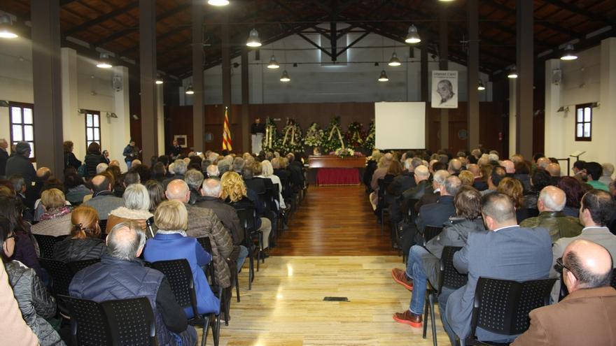 Un momento del funeral de Bernat Capó