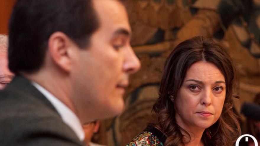 El alcalde y la delegada del Gobierno, en una imagen de archivo. | MADERO CUBERO