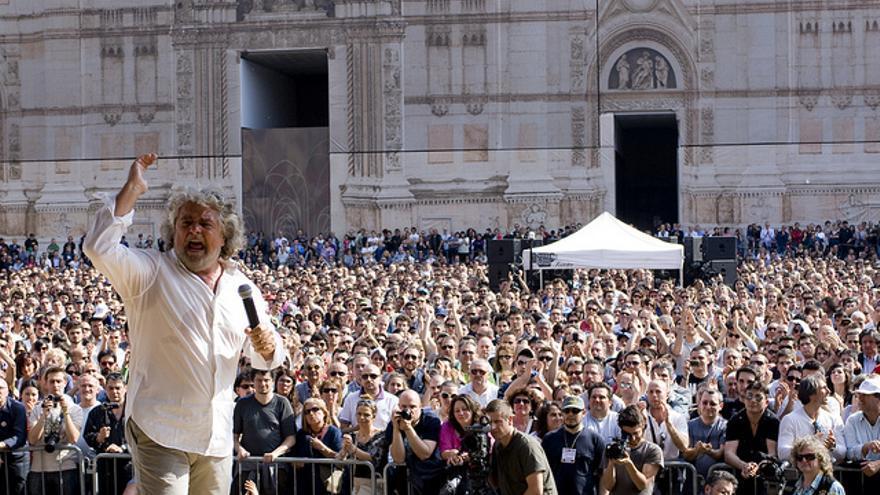 Beppe Grillo, en mayo de 2011. Foto: Flickr de Giovanni Favia.