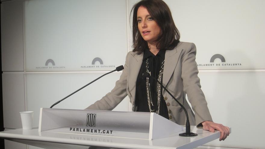 Andrea Levy en una comparecencia ante los medios
