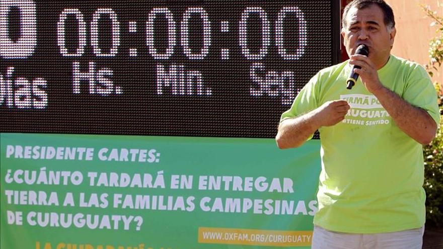 Oxfam dice que el Gobierno paraguayo dilata reparto de tierras a campesinos