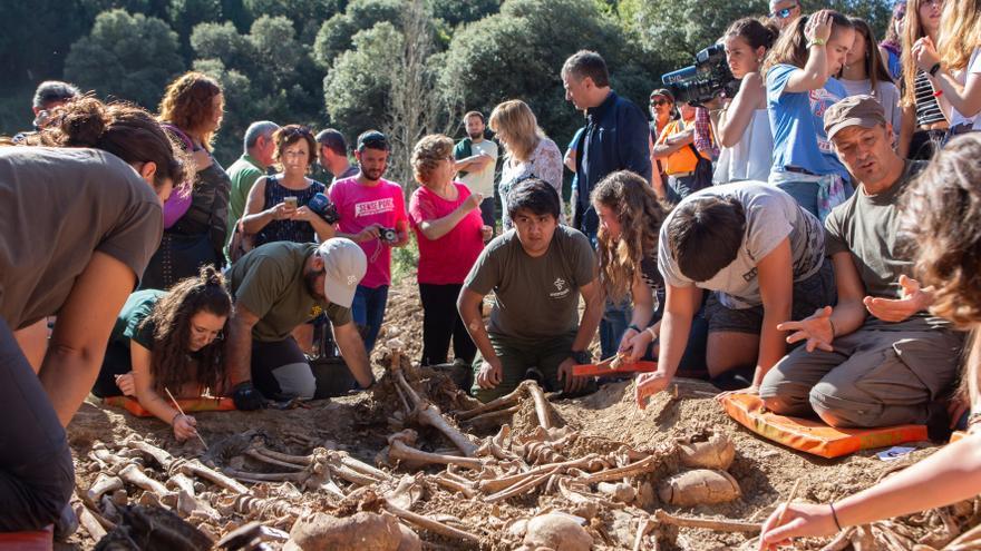Exhumación en Ollacarizqueta