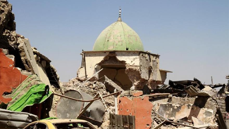 Las fuerzas iraquíes liberan las ruinas de la simbólica mezquita del centro de Mosul