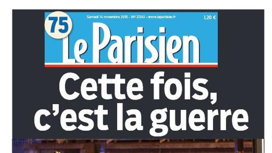 Portada de Le Parisien