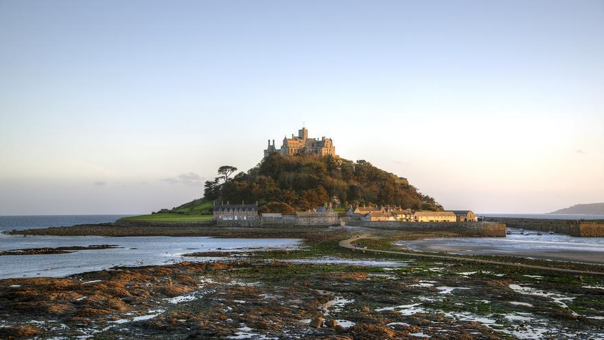 Monte de Saint Michael, equivalente inglés a la famosa abadía de la costa francesa. Simon Harrod