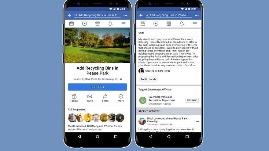 La nueva herramienta de Facebook, Community Actions (Acciones Comunitarias).
