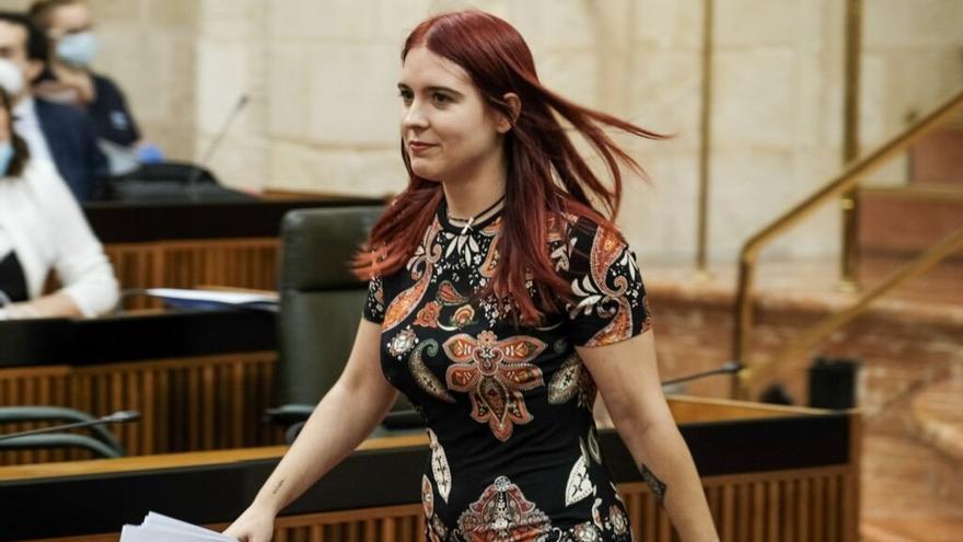 Luzmarina Dorado en el Parlamento.