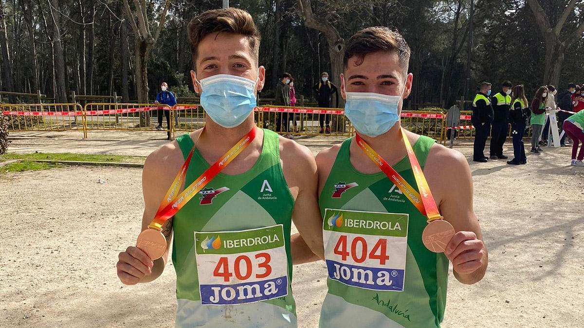 Ángel y Nico Puertas con la selección andaluza.