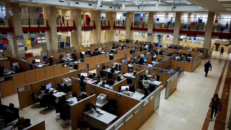 Vista de la sede de la Delegación Especial de la Agencia Tributaria en Madrid.