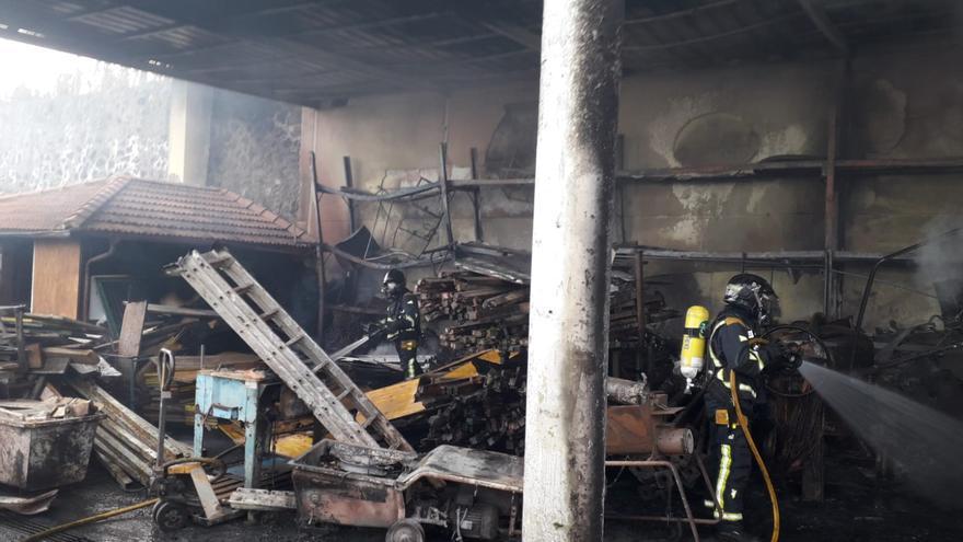 Imagen con las consecuencias del fuego