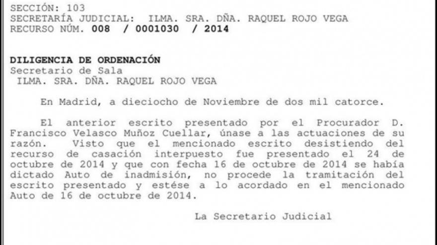 Auto del Supremo desestimando el recurso de la Junta de Castilla-La Mancha y demostrando que mintió