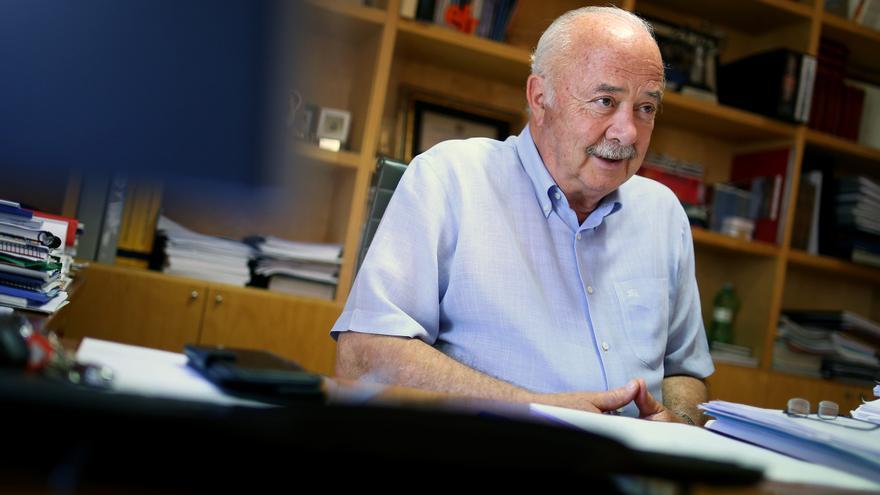 Ricardo Melchior, en su despacho de Puertos de Tenerife, este jueves