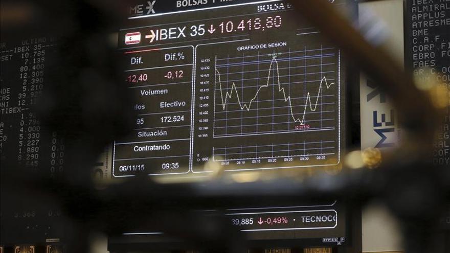 El IBEX cede 0,02 % lastrado por grandes valores y con la banca en positivo