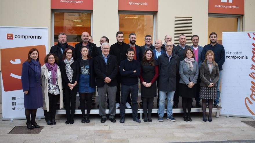 Los integrantes de la Comissió de Coordinació Institucional de Compromís.