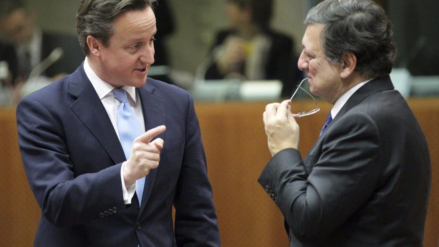 Cameron, junto al presidente de la Comisión Europea, Durao Barroso.
