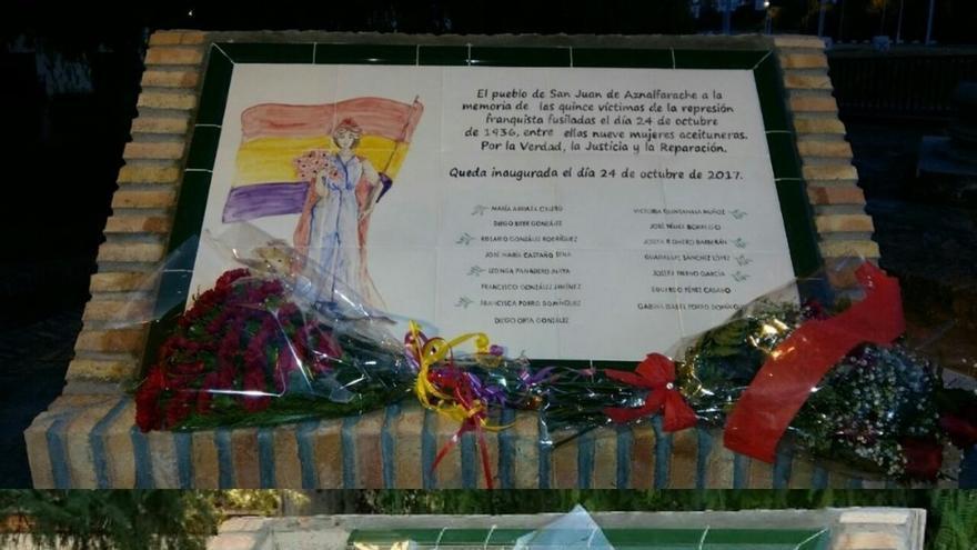 "El PCA tacha de ""intolerable ataque fascista"" el acto vandálico del monolito memorialista de San Juan"