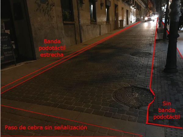Problemas accesibilidad calle Barbieri