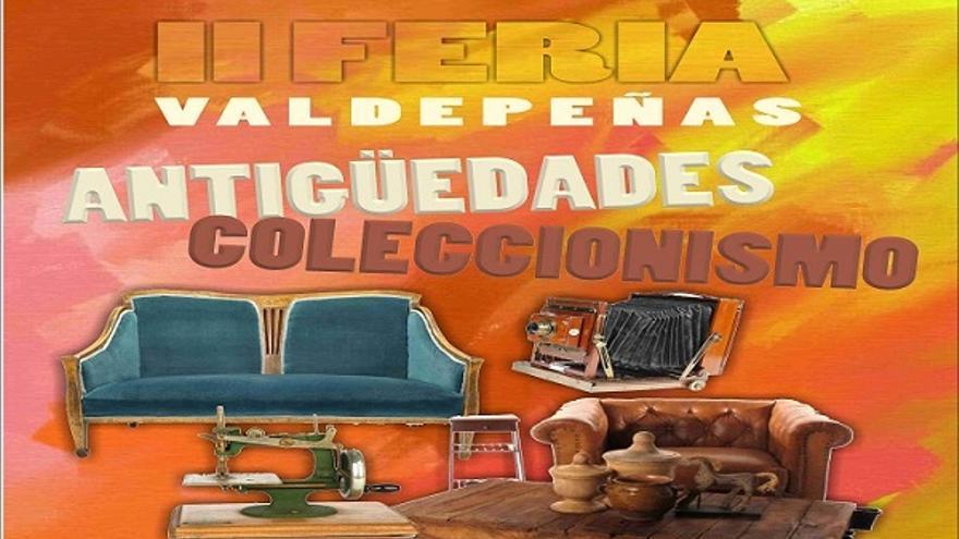 Cartel Feria de Antigüedades y Coleccionismo, Valdepeñas (Ciudad Real)