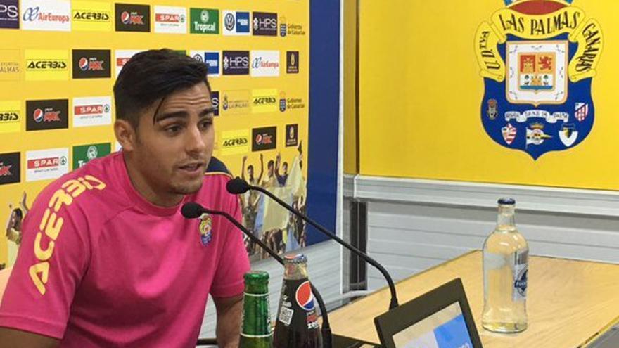 El lateral de la UD Las Palmas, David Simón.