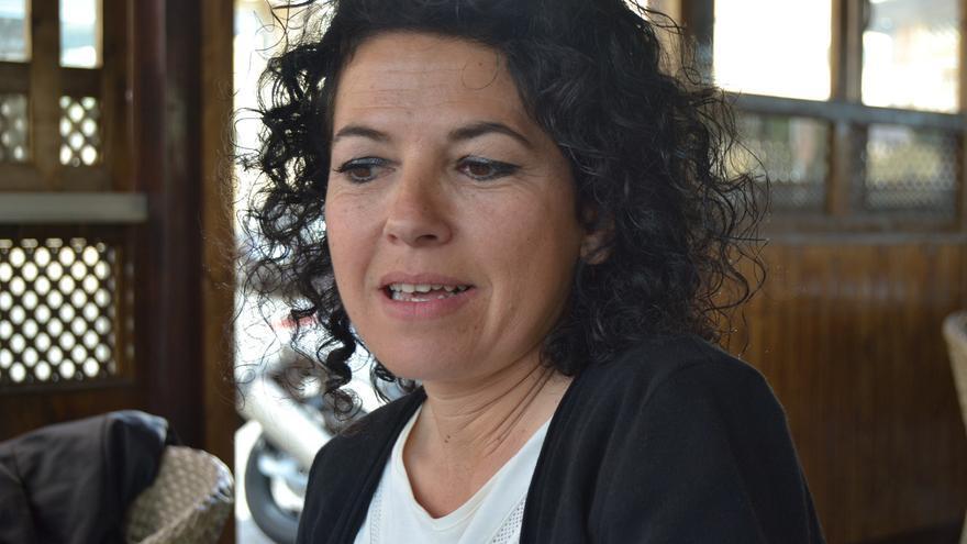 Maribel Mora, durante la entrevista   N.C.