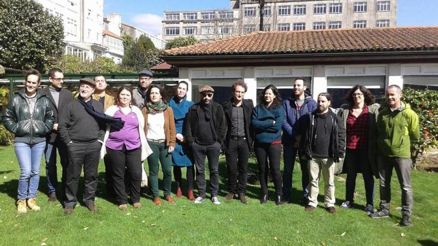 Participantes en las primarias de Compostela Aberta