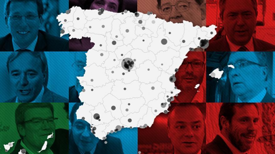 Mapa de alcaldes de municios.