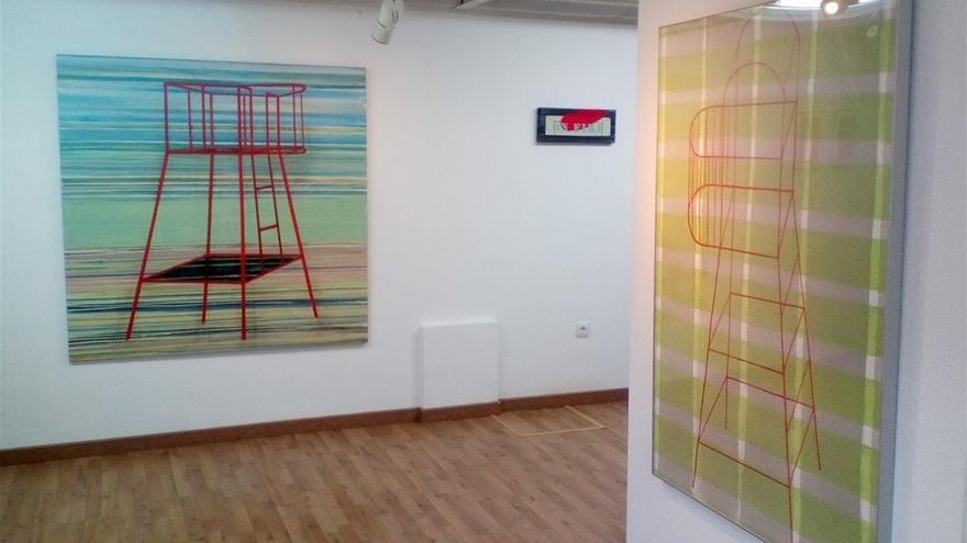 Exposición de pintura 'Lonely planets', de la artista santanderina Gloria Pereda.