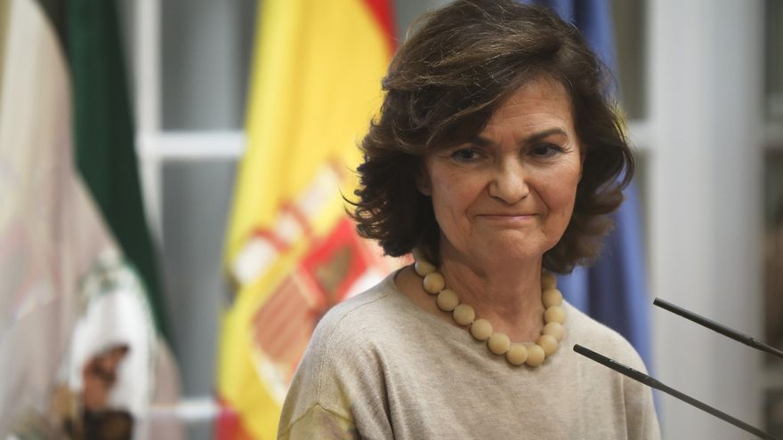 La vicepresidenta, Carmen Calvo.