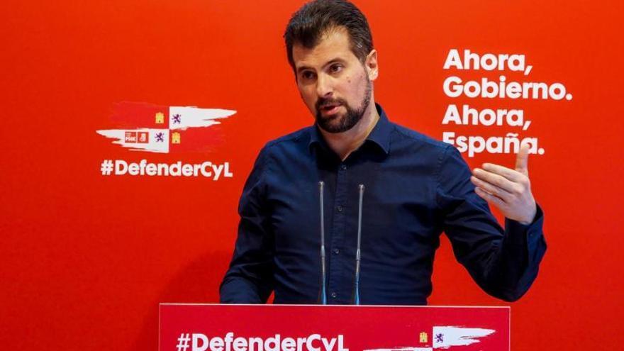 El líder del PSOECyL, Luis Tudanca.