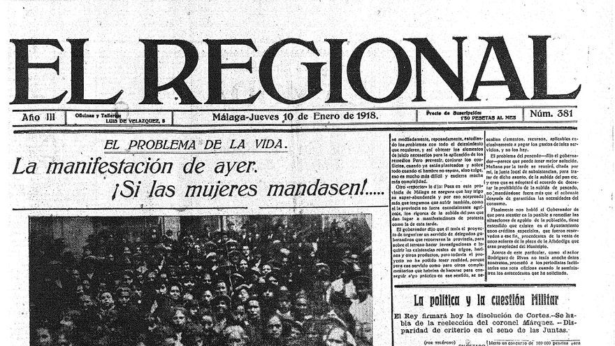 Portada de El Regional del 10 de enero de 1918
