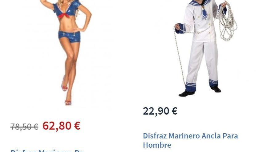 Disfraz de marinera y marinero.