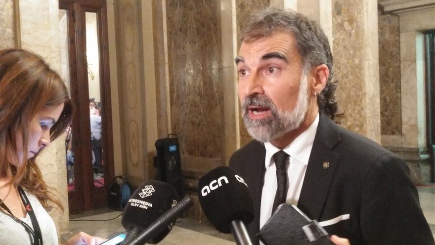 """El presidente de Òmnium Cultural ve la aprobación de la ley del referéndum como un """"ejercicio de normalidad democrática"""""""