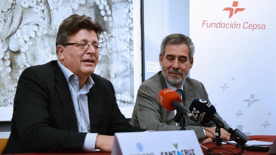 José Carlos Acha y José Manuel Fernández-Sabugo, este martes en Santa Cruz