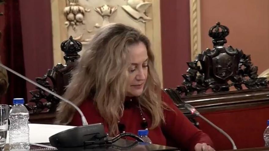 Sofia Godoy, durante el pleno.