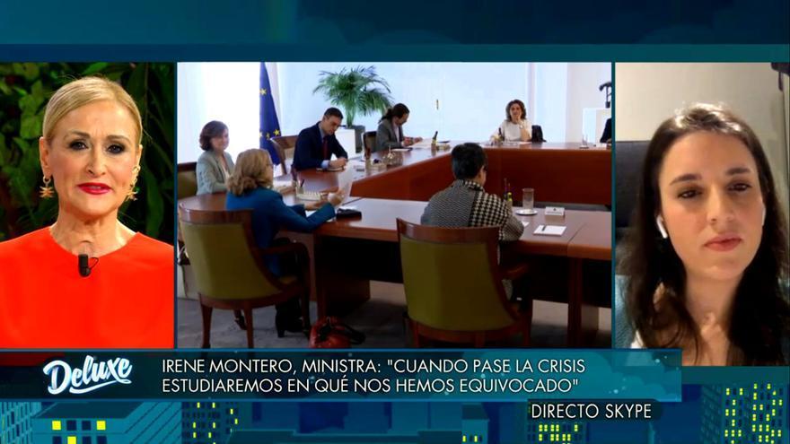 Cristina Cifuentes e Irene Montero en 'Sábado Deluxe'
