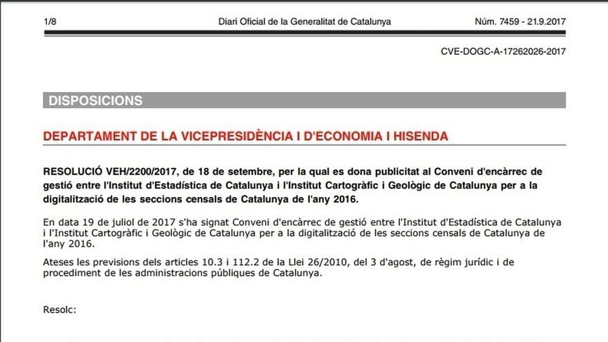 El Govern publica un encargo para digitalizar y actualizar las secciones censales