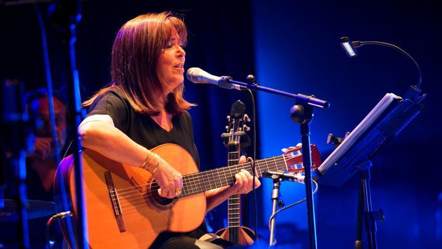 María del Mar Bonet durante su actuación en la Feria Valenciana de la Música Trovam de Castellón.