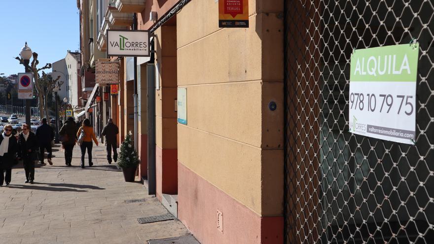 En Teruel, según la Cámara de Comercio, hay más de 300 locales vacíos y 190 están en venta o alquiler.