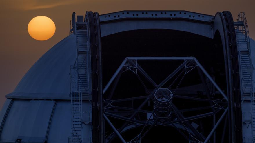 Gran Telescopio Canarias (Grantecan o GTC), en el Observatorio del Roque de Los Muchachos, en las cumbres de Garafía.