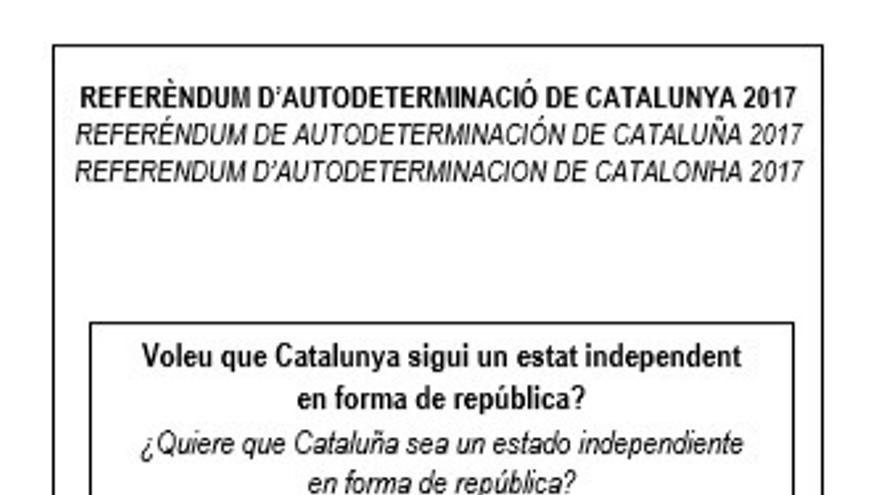 El Gobierno catalán anima a los ciudadanos a imprimir el cartel de campaña y la papeleta