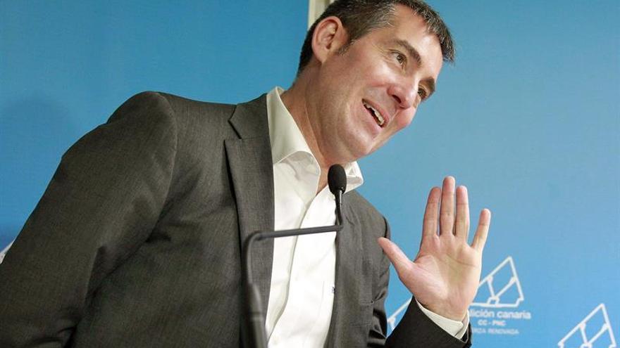 El candidato de Coalición Canaria la Presidencia de Canarias, Fernando Clavijo. (EFE/Cristóbal García)