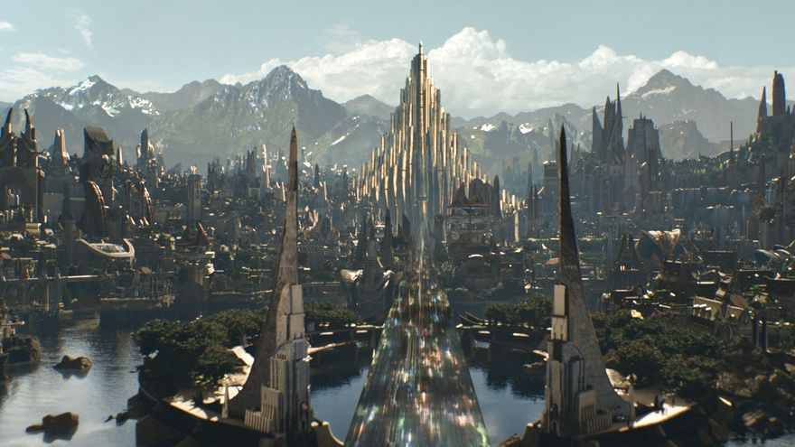 Asgard en la película 'Thor'