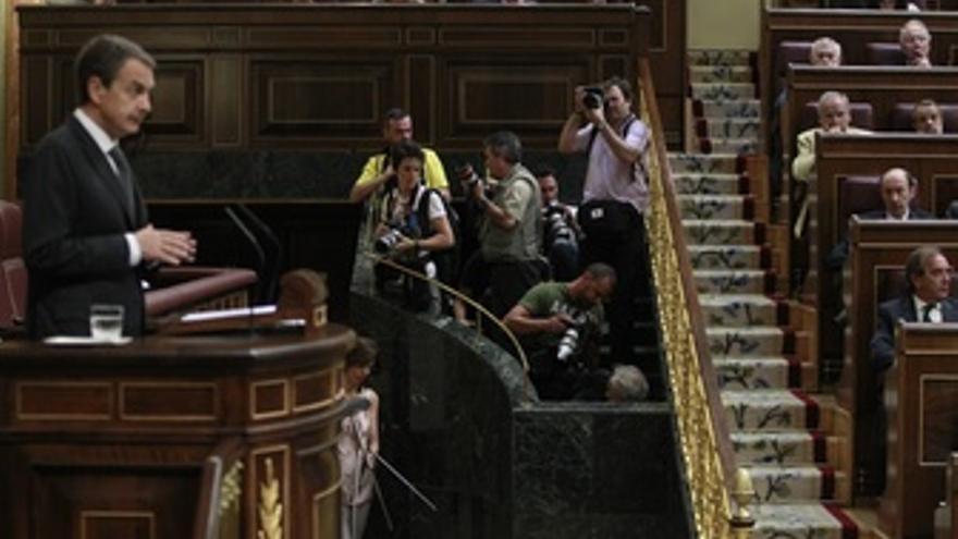 Zapatero en el Congreso de los Diputados.