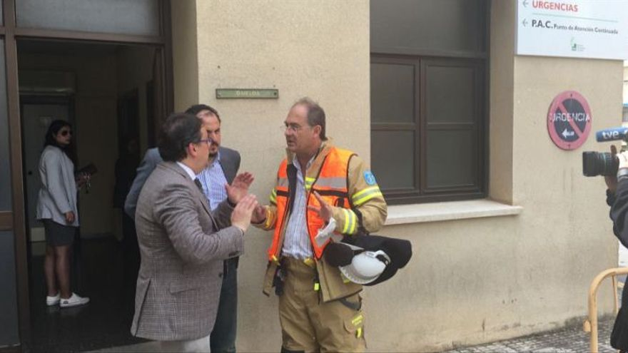 Vergeles hospital Caceres incendio Virgen Montaña