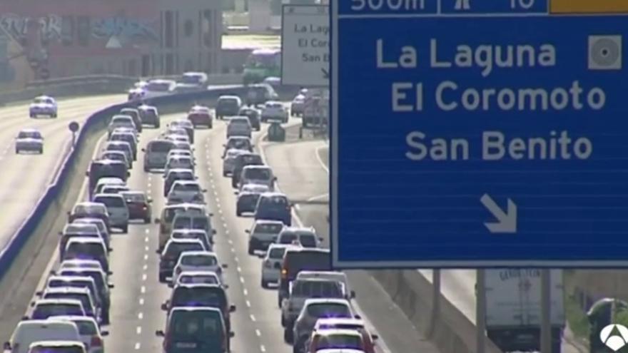Densidad de tráfico en el tramo de la TF-5 entre Los Rodeos y Padre Anchieta